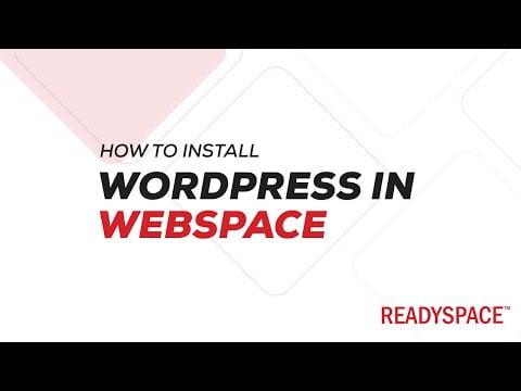 Install WordPress in ReadySpace Webspace